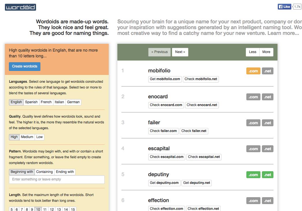 7 công cụ sáng tạo tên miền tuyệt vời